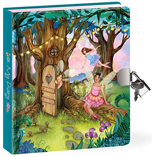 Peaceable Kingdom / Fairy Forest Lock & Key Diary front-707623