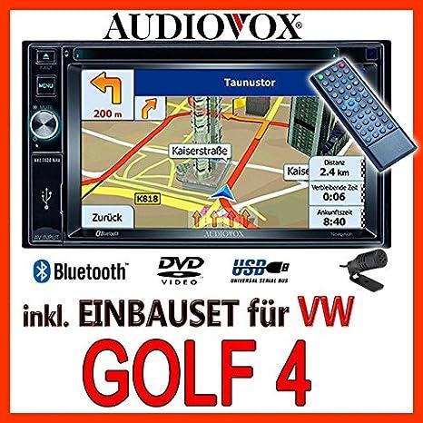 VW Golf 4 / Bora - Audiovox VXE7020 - Autoradio Navigationsradio EU Navi DVD TFT Bluetooth - Einbauset