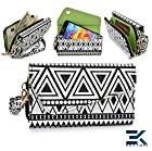 [ Tribal Urban ] |BLACK WHITE| Universal Clutch Women's Wallet Wristlet Nokia Lumia 521 / 929 / 525 Phone Case Phone Case. Bonus Ekatomi Screen Cleaner |ESMLUCK1|