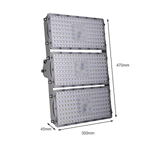 Viugreum 10 Pack 300W LED Flood Light, Waterproof IP65outdoor Work Light, 27000LM Daylight White(6000-6500K) Security Lights, Floodlight Landscape Spotlights Wall Lighting, Fast Shipping from USA (Color: 10 Pack, Tamaño: 300W,Cold White)