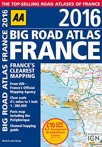 AA Big Road Atlas France