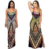TINYHI-Womens-Multi-Color-Aztec-Print-Maxi-Dress