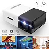Mini Projector, Portable Pico Full Color LED LCD Video Projector for Children Present, Video TV Movie,with HDMI USB AV Interfaces and Remote Control