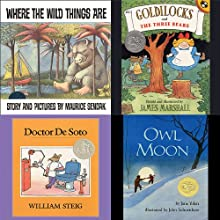 Where the Wild Things Are, Goldilocks and the Three Bears, Doctor De Soto, & Owl Moon Audiobook by Maurice Sendak, James Marshall, William Steig, Jane Yolen Narrated by Peter Schickele, Ian Thomson, Jane Yolen