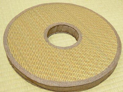 い草クッション「エピ・ドーナツ」(ブラウン)43cm丸(2枚組)
