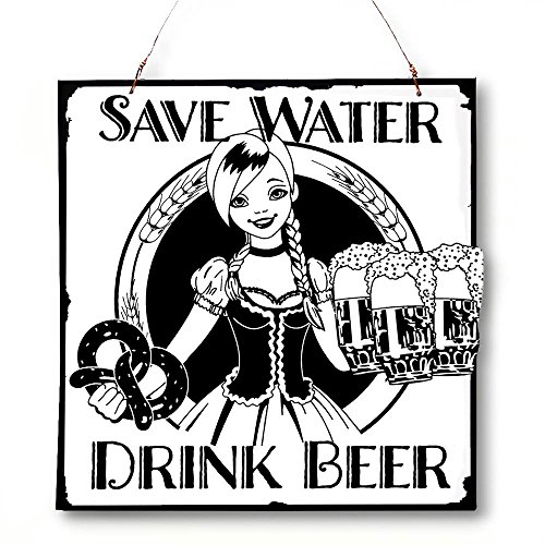 Beer And Brew Good-Times Save Water Hang/Desk Laser-Etched Plaque front-455666