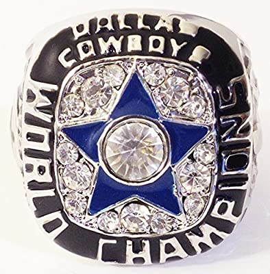 Dallas Cowboys 1971 Super Bowl Ring - Replica of ring issued to Roger Staubach - Rare Dallas Cowboys Memorabilia - Mens Size 12 Shipped from USA