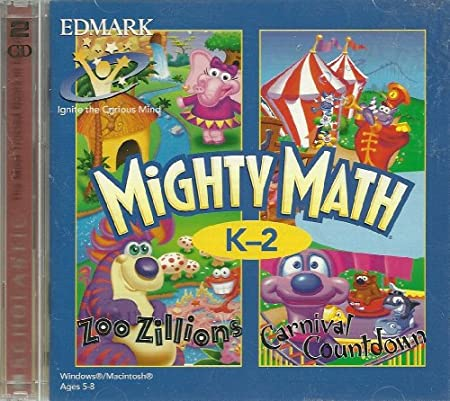Mighty Math K-2 Zoo Zillions and Carnival Coundown