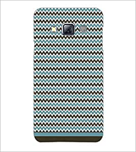 PrintDhaba Zig Zag Pattern D-1691 Back Case Cover for SAMSUNG GALAXY A3 (Multi-Coloured)