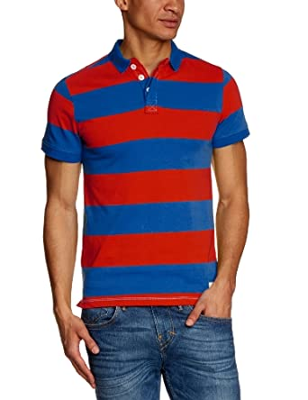 Blend - Polo - Col Polo - Manches Courtes Homme - Rouge - Rot (Poinsettia) -FR : Small (Taille Fabricant : S) (Brand size : Herstellergröße : S)