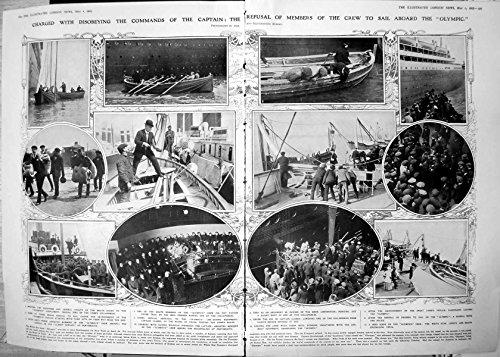 Stampi Disobbedire Capitano Crew Refusal Sail Olympic 1912 674TP240 Nocivo di Comandi