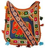 Khatri Handicrafts Women's Shoulder Bag (Orange)