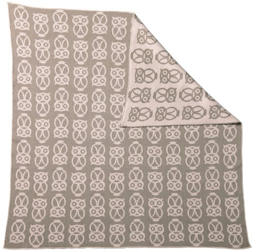 Serena & Lily Owl Baby Blanket- Shell