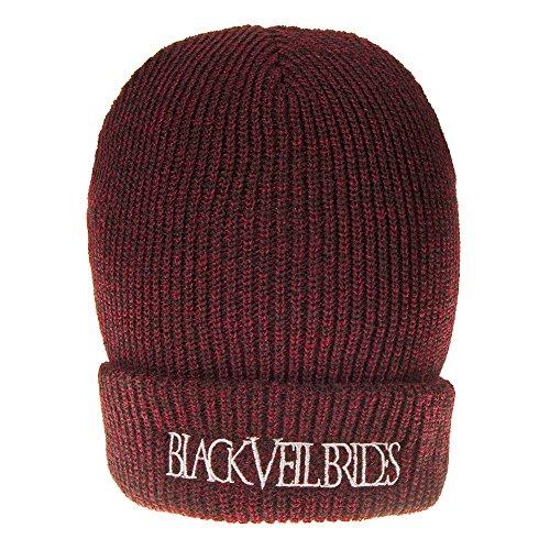 Black Veil Brides Logo ufficiale Nue berretto Beanie TAGLIA UNICA Maroon