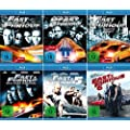 Fast and the Furious 1 + 2 + 3 + 4 + 5 + 6 Collection (6-Blu-ray)