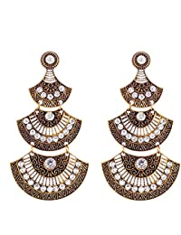 Crunchy Fashion The Tribal Muse Collection Oxidized Silver Trendy Stylish Fancy Party Wear Jewellery Gold Alloy...