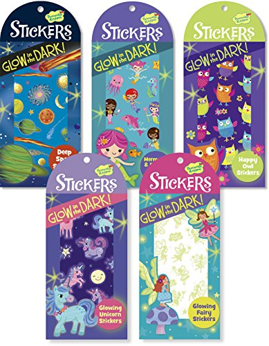 Peaceable Kingdom / Girl'S Glow In The Dark Sticker Party Assortment front-901264