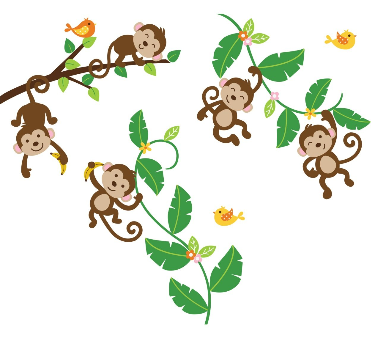 Monkey In A Tree Cartoon Clipart Panda Free Clipart Images Pictures to ...