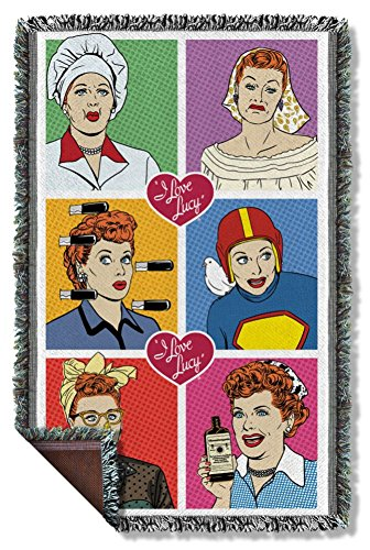 I Love Lucy Comic Woven Throw LB246TAP