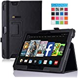 MoKo Amazon Kindle Fire HDX 8.9 Case - Slim Folding Case for Kindle Fire HDX 8.9 Inch 2013 Gen Tablet, BLACK (with Smart Cover Auto Wake / Sleep Feature)