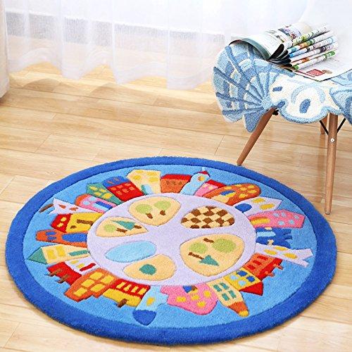 tapis-circulaire-lit-minimaliste-salon-chambre-a-coucher-accueil-enfants-cartoon-couleur-solide-epai