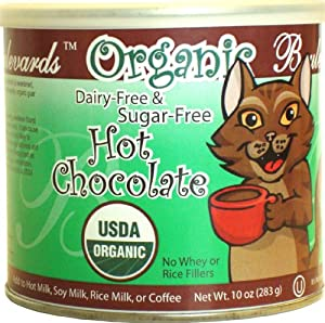Boulevards Organic Dairy-Free, Sugar-Free Hot Chocolate Mix, 10-Ounce Cans (Pack of 2)