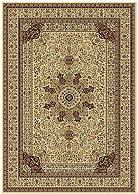 Silk Ivory Rug Persian Style Tabriz Rug 8x12 Living Room Rug 5x8 Ivory Cream Carpet Area Rugs Traditional Luxury Rug Multiple Sizes 2x8 Runner and 2x12 Runners 7x10 Rugs