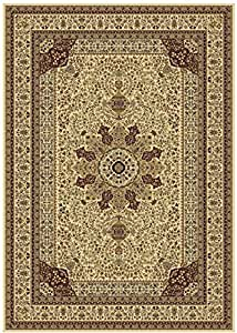 Silk ivory rugs persian tabriz rug 7x10 for Living room rugs 6x9