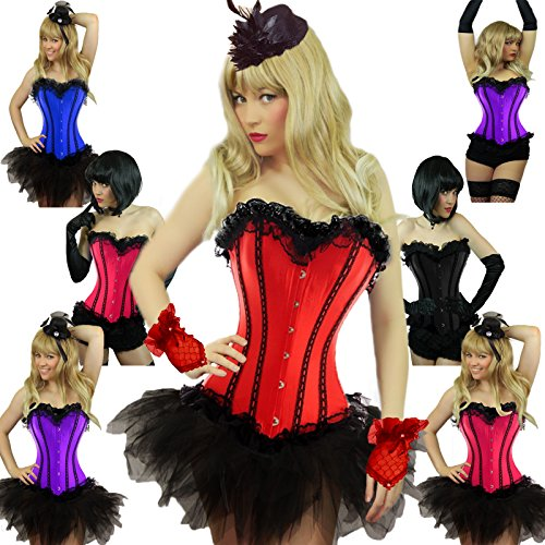 Yummy Bee Burlesque Corset + Tutu Skirt Costume Womens Cosplay Plus Size 2-20
