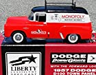 RARE! MONOPOLY Water Works 1957 DODGE D100 Town Panel Truck Bank in 1:25 Scale Diecast Metall