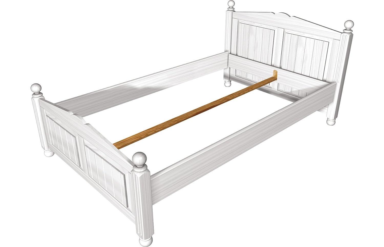 """Firstloft 401-1800 Bett 180×200 cm """"Cinderella Premium"""", 192 x 101 x 215 cm, Kiefer, teilmassiv, weiß"""