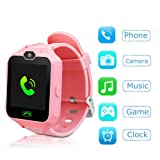 YNCTE Kids Smart Watch Phone Watch for Kids Smartwatch Camera Games Touch Screen Cool Toys Smart Watch Gifts for Girls Boys Children (Pink) (Color: PINK)