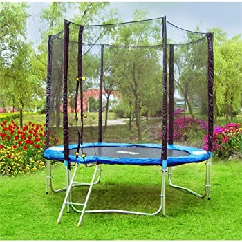 pas cher trampoline 2 45 m trampoline de jardin maxi avec chelle filet de s curit et b che. Black Bedroom Furniture Sets. Home Design Ideas