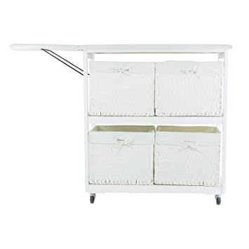 Portable Ironing Board with Laundry Baskets, White available at Amazon for Rs.63989