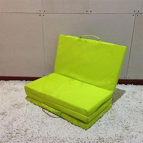 Lazy sofa Moisture Simple tappetini per campeggio Riposo tappetino pieghevole Tappetino Telaio Stealth Letto per alloggio Sgabelli a sedere Tappetini Yoga dimensioni 170 * 60 * 4cm , green