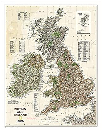 Britain and Ireland Executive [Tubed] (National Geographic Reference Map)