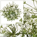 "FOUR 20"" Artificial Queen Ann's Lace Flower Bushes"