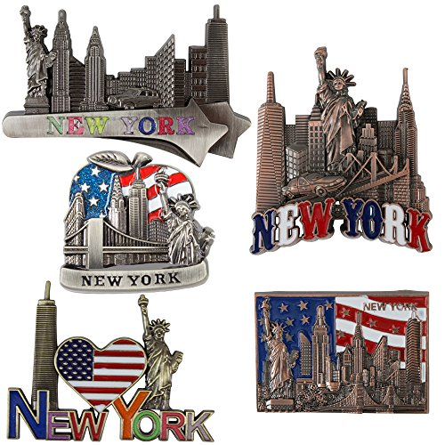 Bundle (5) Fridge Magnets new york Souvenir Empire State Building Skylines,Statue Of Liberty,Taxi (Fridge Magnet New York compare prices)