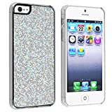 eForCity Snap-on Case Cover Compatible with Apple iPhone 5, Silver Bling Rear Reviews