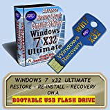 WINDOWS 7 x32 Ultimate-on USB Flash Pen Drive. Re-install Windows Factory Fresh! Easy and Quick! Full Support Included with USB Stick~GUARANTEED to WORK or YOUR MONEY BACK!