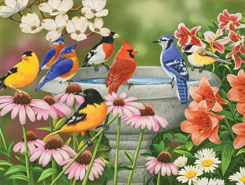 SunsOut Garden Birdbath Jigsaw Puzzle 30459