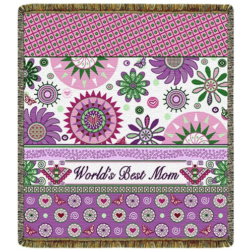 World'S Best Mom Throw Blanket front-344978