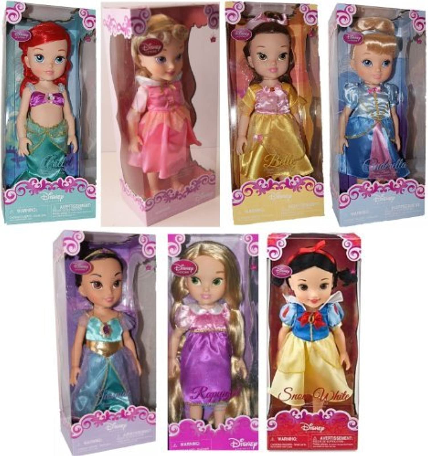 Disney Princess Toddler Doll Cinderella: Disney Store 16 Disney Princess Toddler Doll 7 Pc. Gift