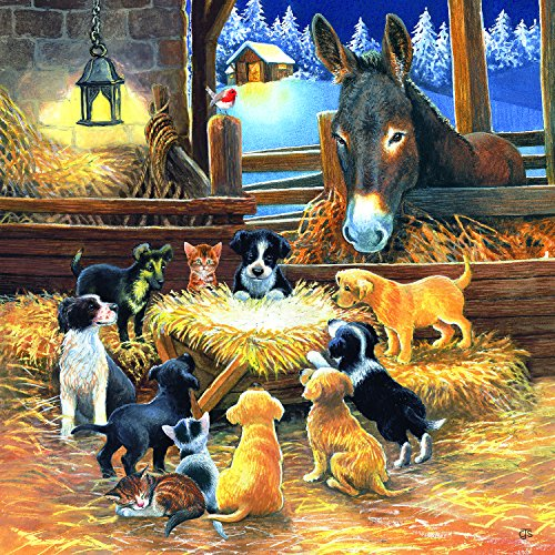 SunsOut Barnyard Nativity 500 Pc Jigsaw Puzzle