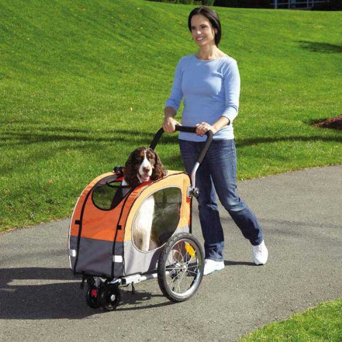 Guardian Gear Cross-Trainer Pet Stroller for Dogs and Cats, Flash Orange