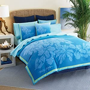 Dorm Bedding Roxy Beach Blue Floral Teen Girls Comforter