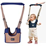 Baby Dual-use Vest Type Walking Assistant,Basket-shape Walk Helper Four Seasons Universal Learning to Walking Harness for Toddlers (Color: blue 1)