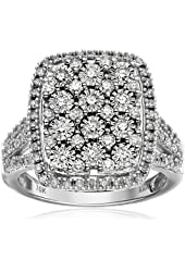 10k White Gold Diamond Ring (1 cttw, H-I Color, I2-I3 Clarity), Size 7
