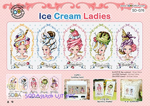 Ice cream Ladies - Cross stitch Kit. SODAstitch SO-G76 (Soda Cross compare prices)