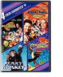 4 Film Favorites: Family Comedies (Funky Monkey, Looney Tunes Back In Action, Osmosis Jones, Space Jam)